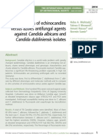 Efficacies of echinocandins  versus azoles antifungal agents against Candida albicans and Candida dubliniensi s isolates