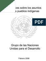 Directrices Sobre Los Asuntos de Los Pueblos Indigenas - Grupo de Las Naciones Unidas Para El Desarrollo