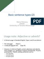 Week 3 - Sentence Types (2)
