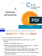 CS1336 Chapter 3 Study Suggestions by Section Final