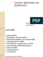 Viscoelastic and Suture Materials in Ophthalmology