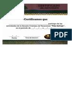 Certificado ECV 2015