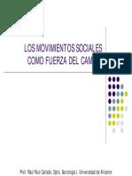 Tema 7. Los Movimientos Sociales Como Fuerza Del Cambio