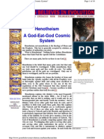 First Christians Believed in  Henotheism = a God-Eat-God Cosmic System