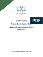 Teoria Geral Direito Civil 1 - Sebenta Serafim Cortizo