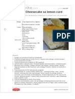 Fantazija Cheesecake Sa Lemon Curd