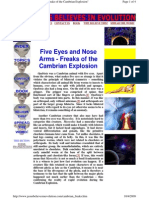 Five Eyes and Nose Arms - Freaks of the Cambrian Explosion