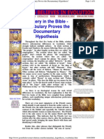 Forgery in the Bible - Vocabulary Proves the Documentary Hypothesis