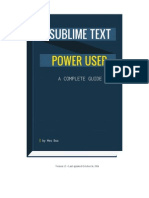 Sublime Text Power User Sample