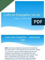 20150111 - Culto Do Evangelho No Lar