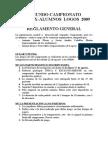Reglamento de Fútbol 2º Olímpiadas Ex Alumnos