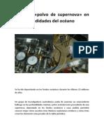 Analizan POLVO de SUPER NOVA en Las Profundidades Del Oceano