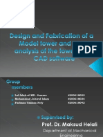 Undergrad Thesis on 'DESIGN AND FABRICATION OF A MODEL TOWER AND STRESS ANALYSIS OF THE MODEL TOWER USING CAD SOFTWARE'
