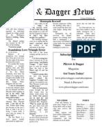 Pilcrow and Dagger Sunday News 1-25-2015