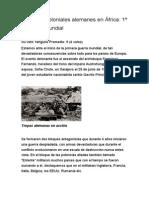 Soldados Coloniales Alemanes en África