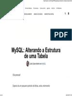 MySQL_ Alterando a Estrutura de Uma Tabela