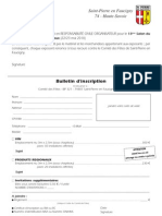 Bulletin d'Inscription Salon Vin
