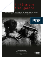 AA.vv. (2013) - La Littérature Va-t_en Guerre. Représentations Fictionnelles de La Guerre Et Du Conflit Dans Les Littératures Contemporaines