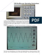 Tektronix TDS 220 User Instructions for Scope