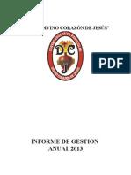 Informe de Gestión Anual 2013 Iep Dcj