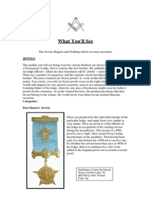 Jewels and Regalia | Freemasonry | Masonic Lodge