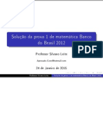 Prova de Matemática Banco do Brasil 2012 Solucionada