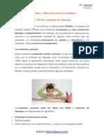 Similitudes y DiferenciAS de TDAH y Síndrome de Asperger