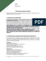 Indicaciones Academicas Primer Semestre 201510