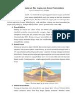 Morfologi Gunung Api dan Karakteristik Magma Penyusunnya