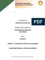Unidad_1. La Importancia Del Uso de Tecnologias