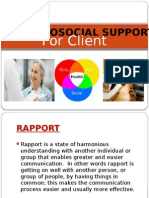 Biopsychosocial Support for Client|