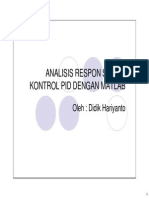 Kendali Adaptif 2. Analisis Respon Sistem