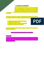 2.3 Manual de Compras