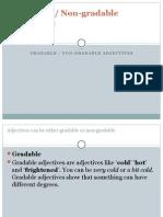 Gradable Non Gradable Adjectives