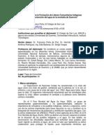 Diplomadio de Lideres Comunitarios, Usos y Proteccion Del Agua
