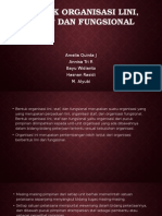Bentuk Organisasi Lini, Staff Dan Fungsional