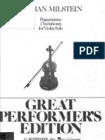 Ysaye-Paganini - Variations on the Theme of Caprice No. 24