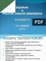 Sejarah Dan Politik Hukum