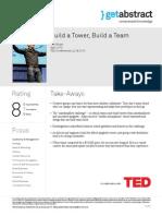 Build a Tower Build a Team Wujec en 19898