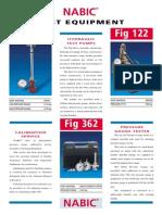 Fig 300, 122, 362, 55N, 174, 345 & 210 Test Valves & Equipme