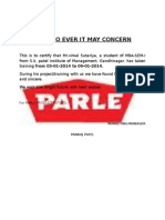 Crtificate Parle
