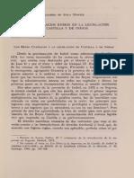 Los Reyes Catolicos y La Legislacion de Castilla y de Indias