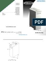 Fellowes Powershred C-120C Commercial Paper Shredder - FEL34125