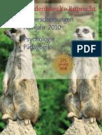 Vorschau 1 / 2010 Psychologie und Pädagogik