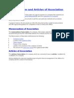 Memorandum and Articles of Association