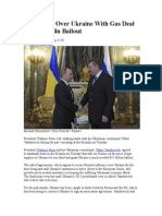 Putin Wins Over Ukraine With Gas Deal And