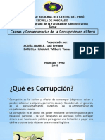 Causas Consecuencias Corrupción Peru