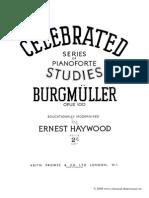 Burgmuller - Studies Opus 100