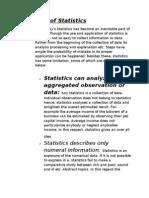 Limitation of Statistics