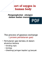 Transport of Oxygen in the Human Body